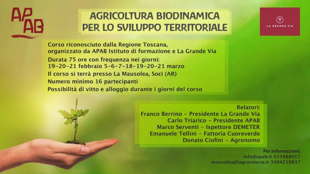 Agricoltura biodinamica per lo sviluppo territoriale